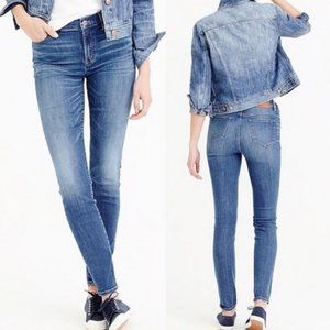 J. CREW Lookout High Rise Skinny Jeans Wallace Y18